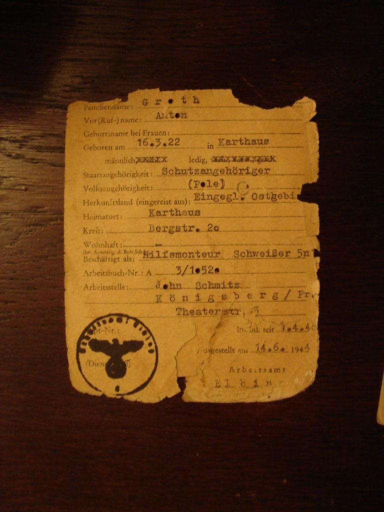 Rückseite der Arbeitskarte © Fundacja Ośrodka Karta, Warschau