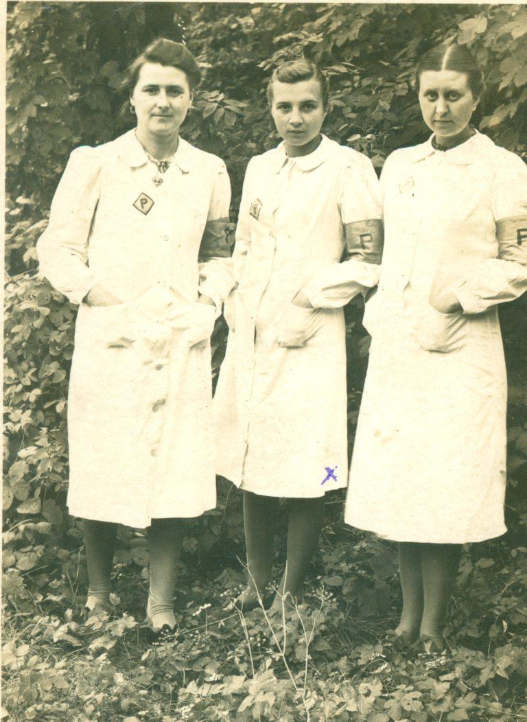 Polnische Zwangsarbeiterinnen in Hennigsdorf, 1942 © Dokumentationszentrum NS-Zwangsarbeit