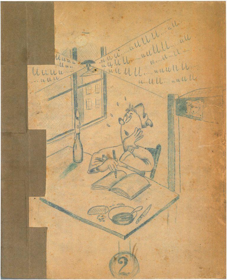 Zeichnung Tiziano Di Leo, Berlin, 1943-1945© Privatbesitz