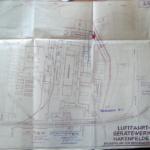 Bauplan für das Luftfahrtgerätewerk Hakenfelde, 1940. Foto im Besitz der Jugendgeschichtswerkstatt Spandau, Original im Siemens Historical Institute.