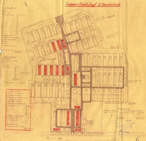 Plan des Lagers Salzhof, 1941 © Siemens Historical Institute Berlin, 31453