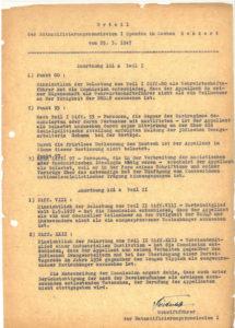 Urteil der Entnazifizierungskommission I Spandau in Sachen Benkert, Berlin, 25. März 1947 © Landesarchiv Berlin, B Rep. 031-01-02, Nr. 7200 (Bd. 2)