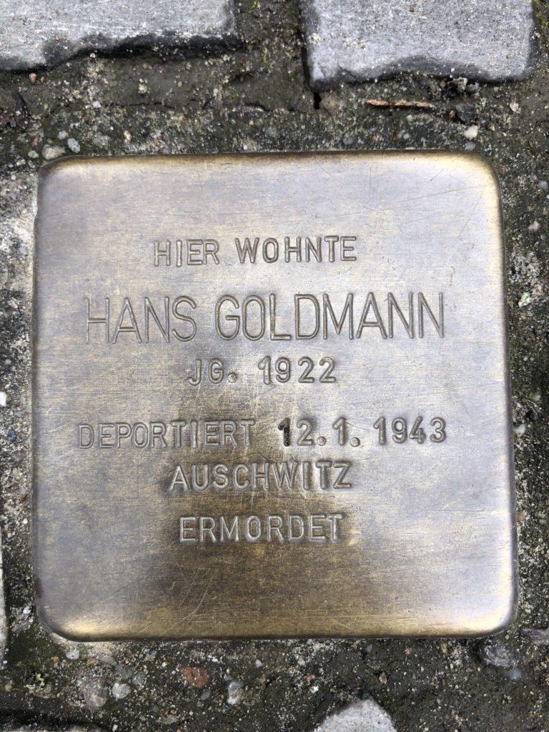 Stolperstein für Hans Goldmann